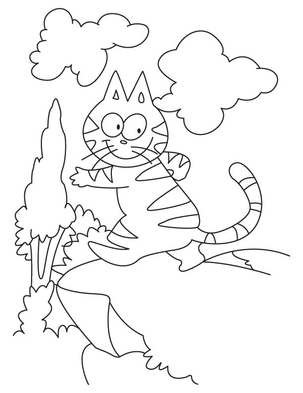 Catch-me!-If-you cat coloring pages
