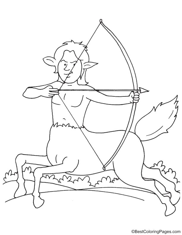 free printable centaurs coloring pages - photo#13