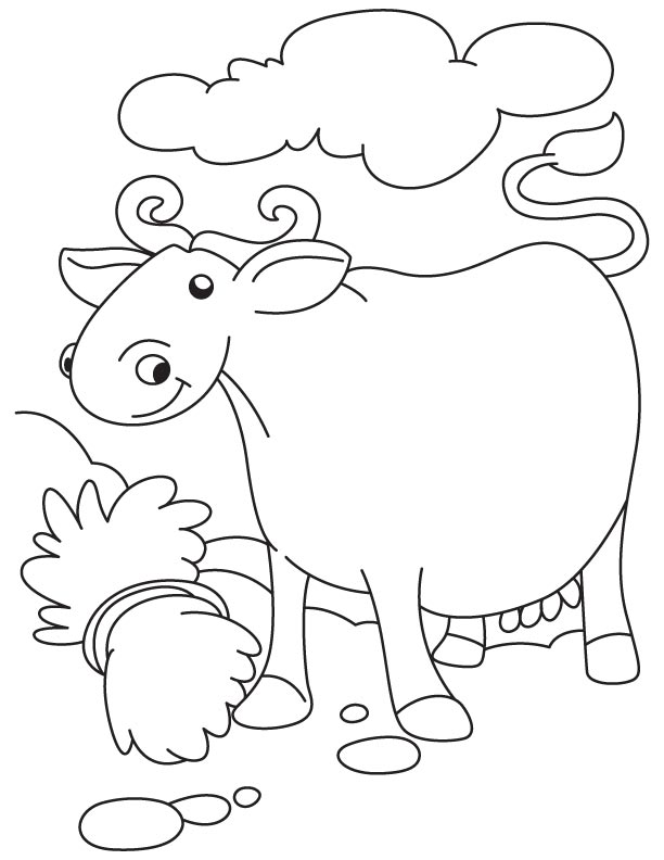 Confused buffalo coloring page