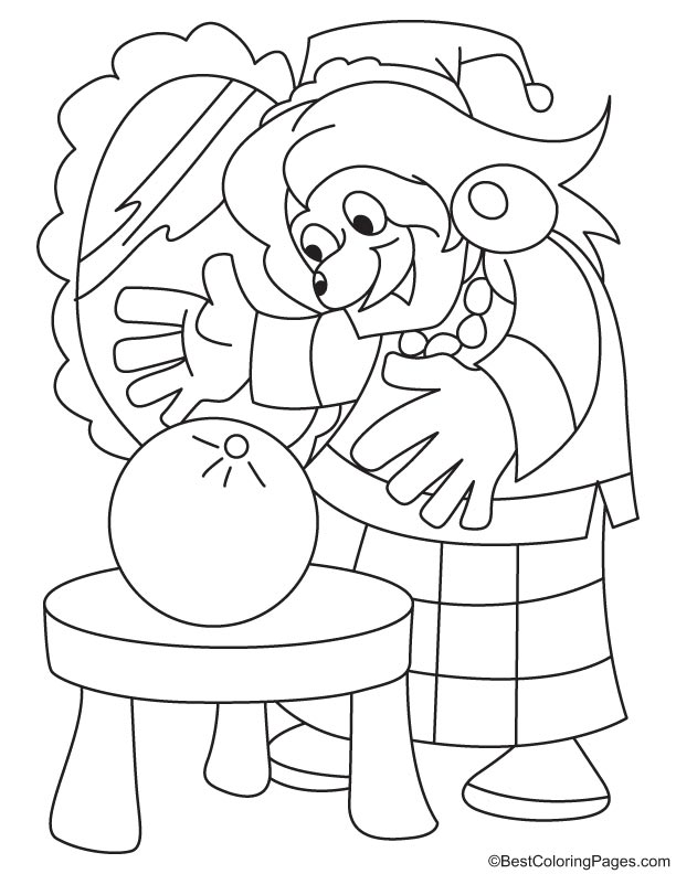 Devil with a bomb coloring page