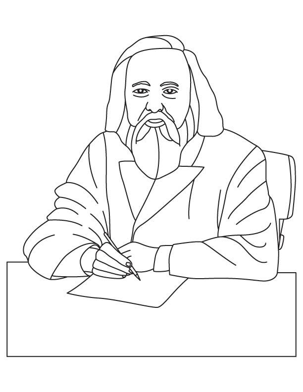 Dmitri Mendeleev coloring pages