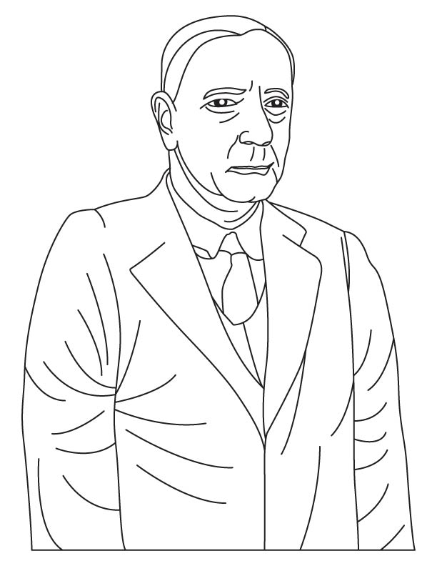 Edwin Hubble coloring pages