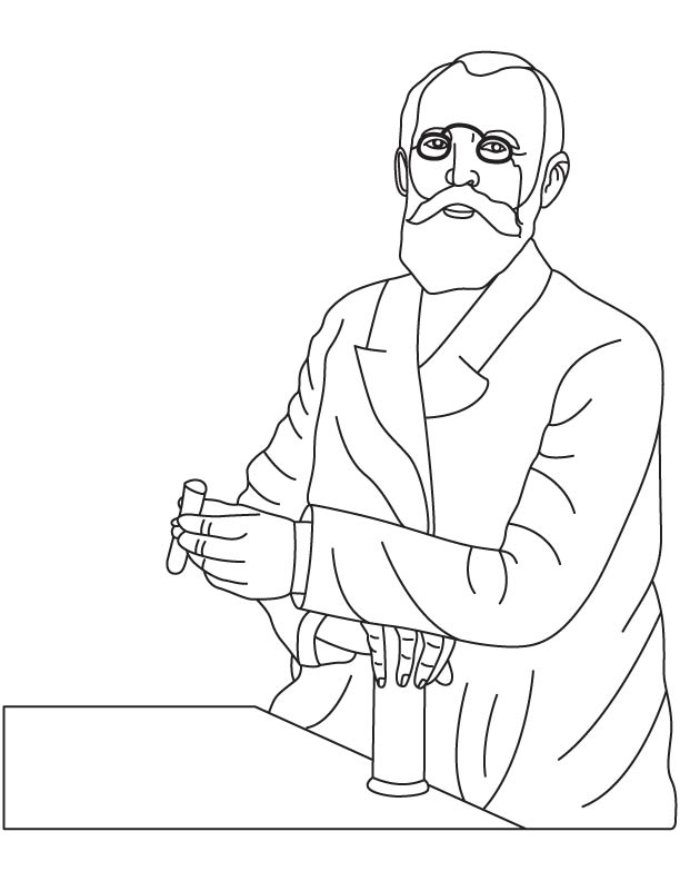 Emil Fischer coloring pages