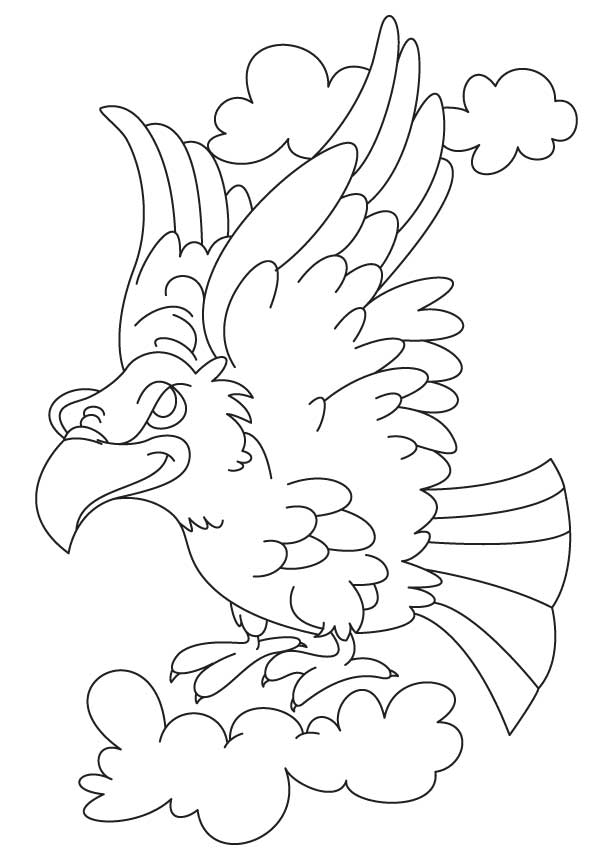 Golden eagle in flight coloring page | Download Free Golden eagle ... | 860x613