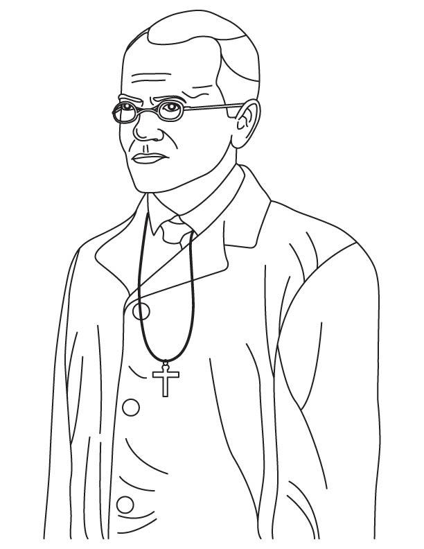 Gregor Johann Mendel coloring pages