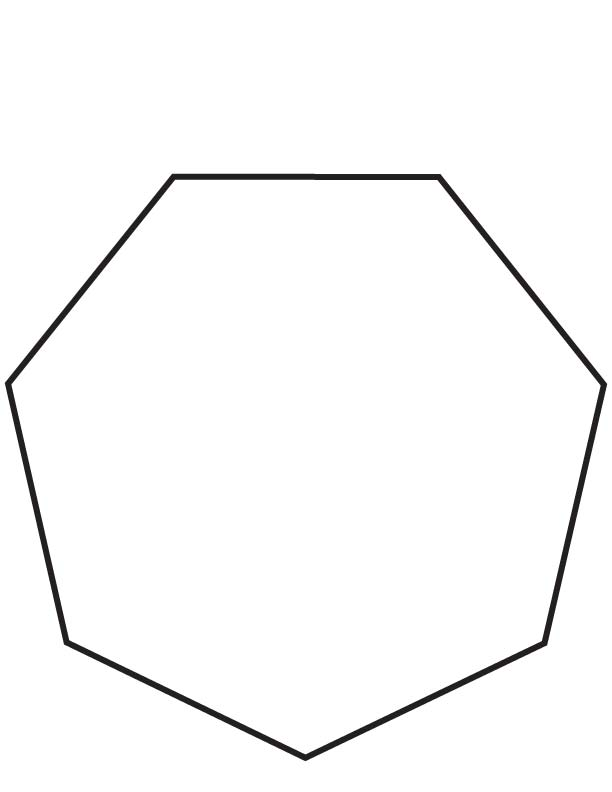 Heptagon coloring page Download