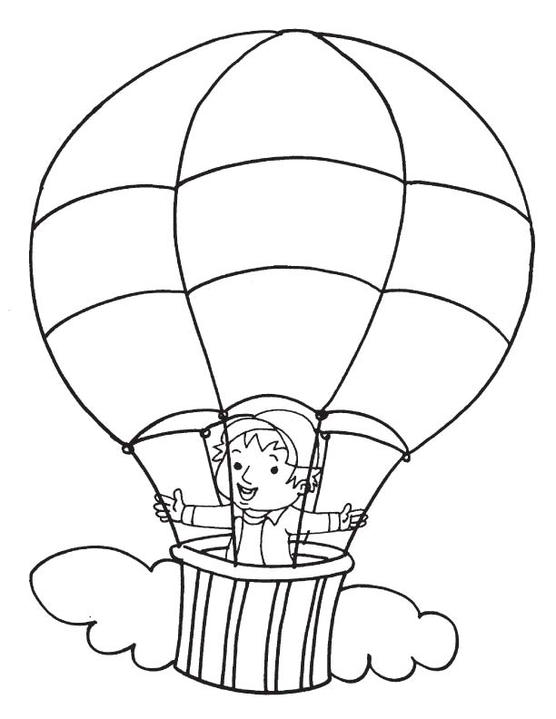 Hot air balloon coloring page  Download Free Hot air balloon