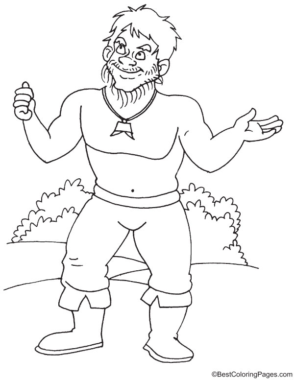 Ispolin a legendary giant coloring page