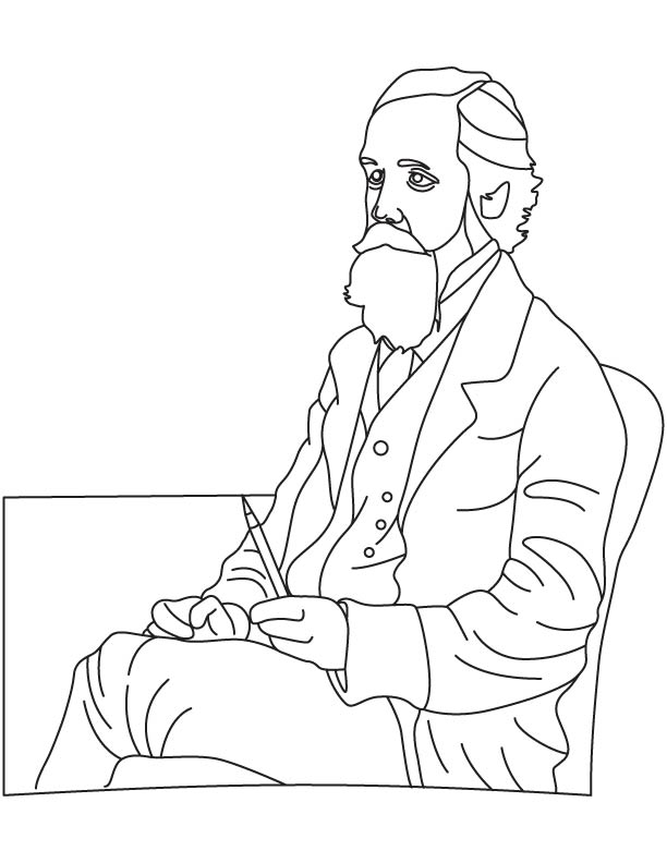 James Clerk Maxwell coloring page