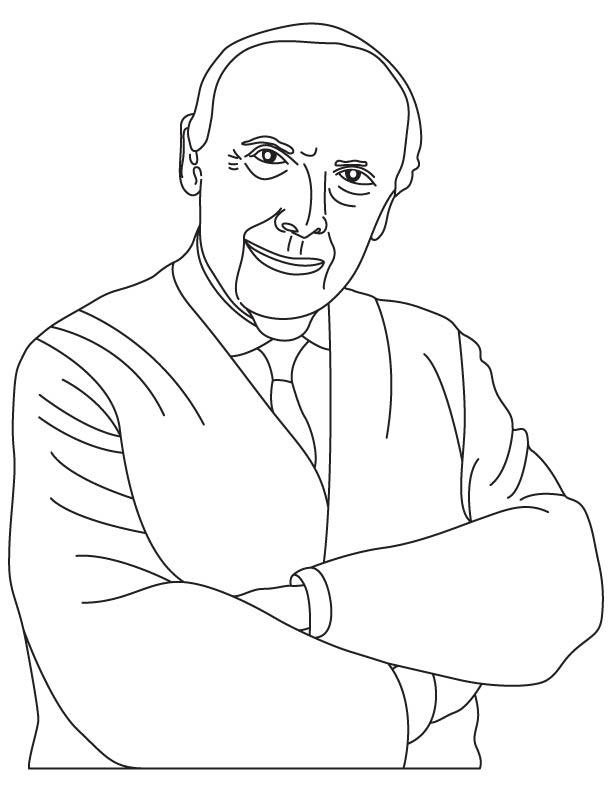 James Dewey Watson coloring page
