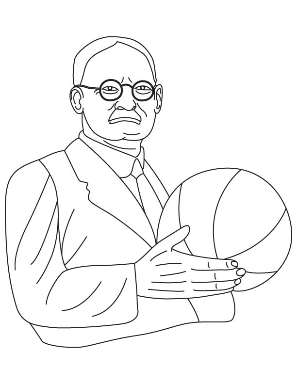 James Naismith coloring page