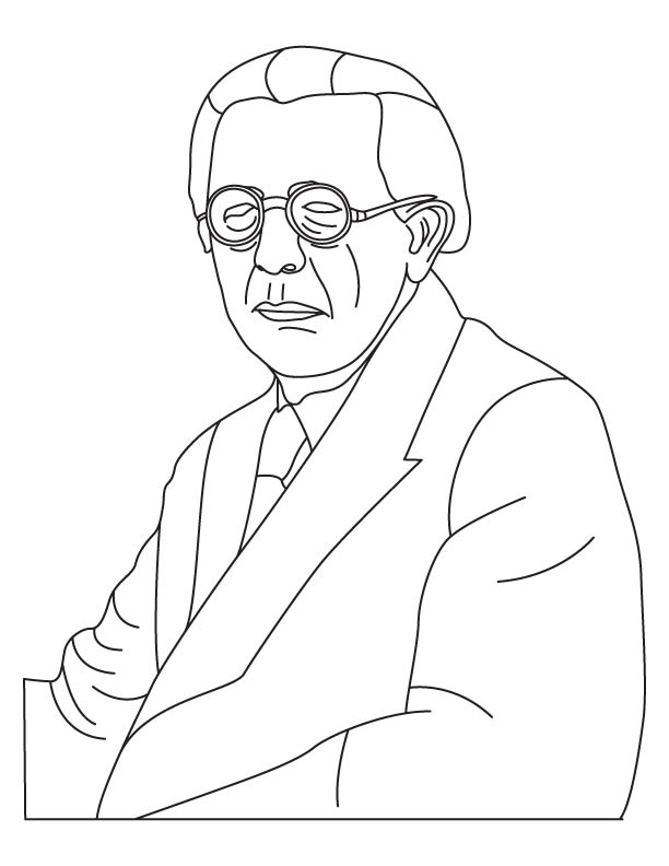Jean Piaget coloring page