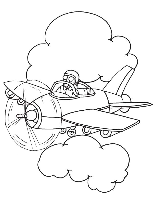 Jet fighter coloring page