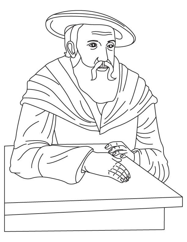 Johannes Kepler coloring page