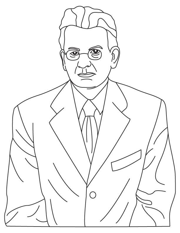 John Logie Baird coloring page