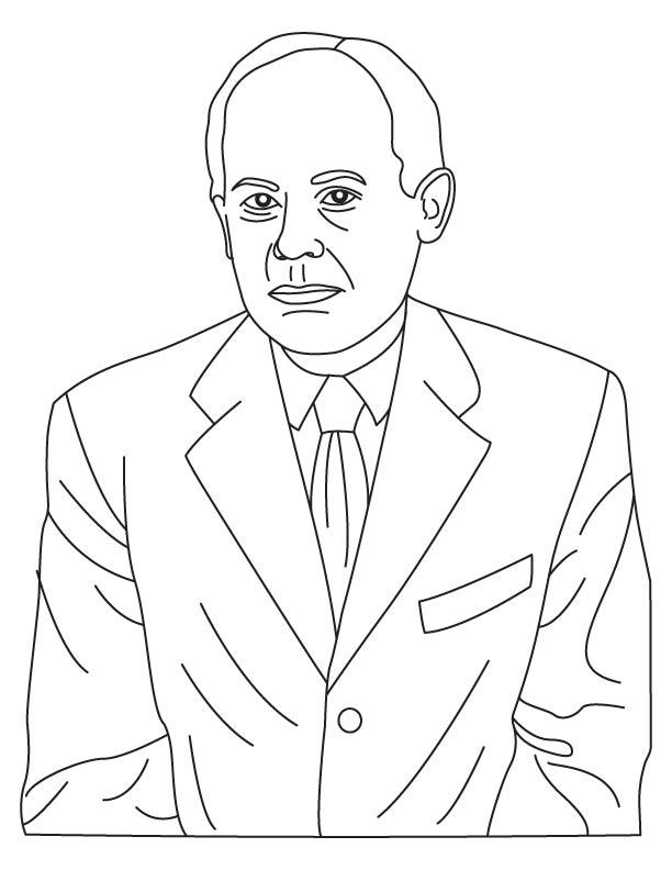 John Von Neumann coloring page
