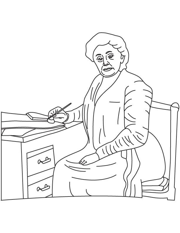 Josephine Cochrane coloring page