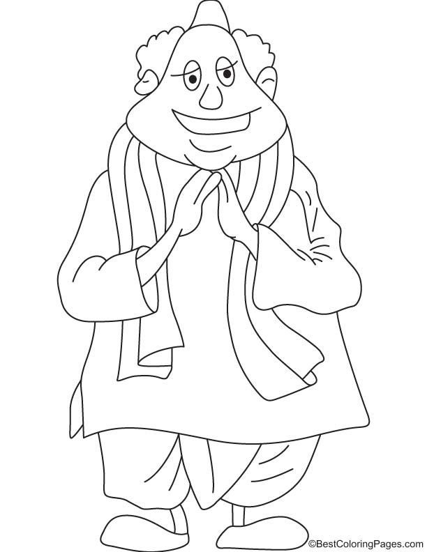 Leader politician coloring page