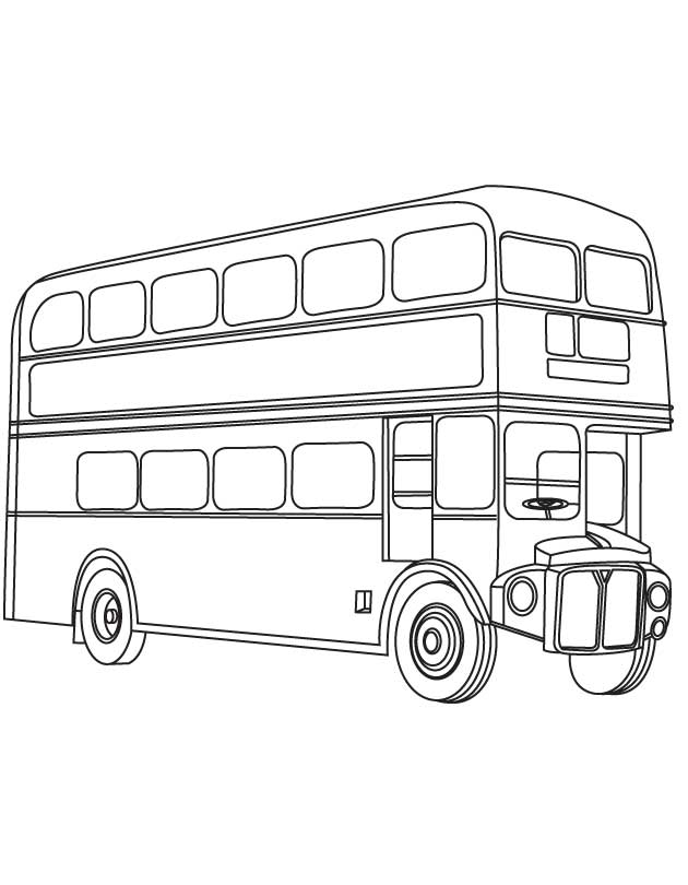 double decker bus coloring pages - photo#2
