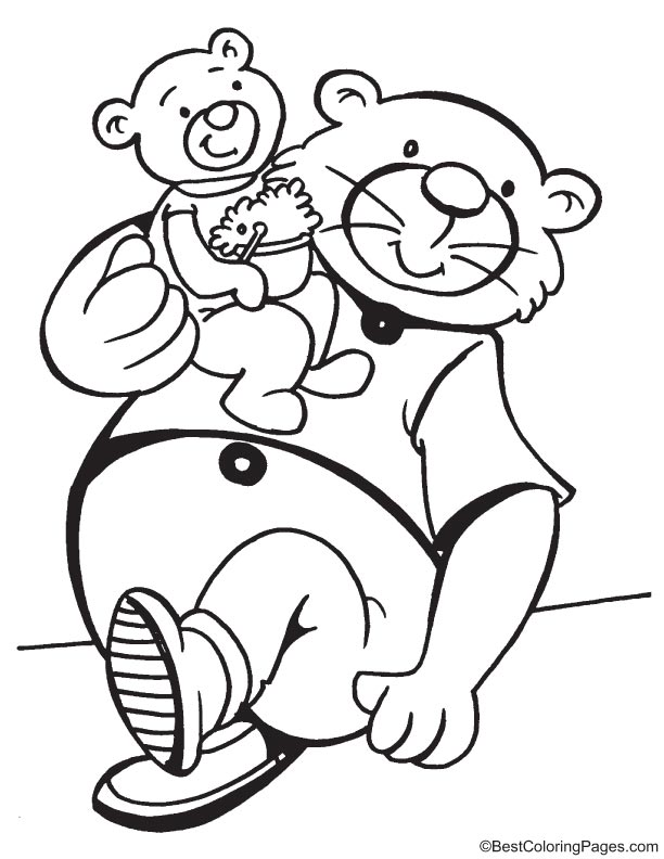 Loving father coloring page