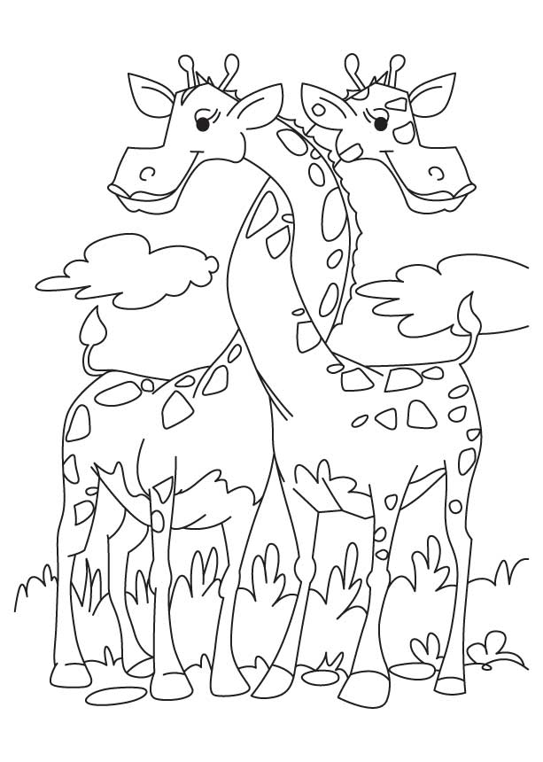 loving giraffe coloring pages