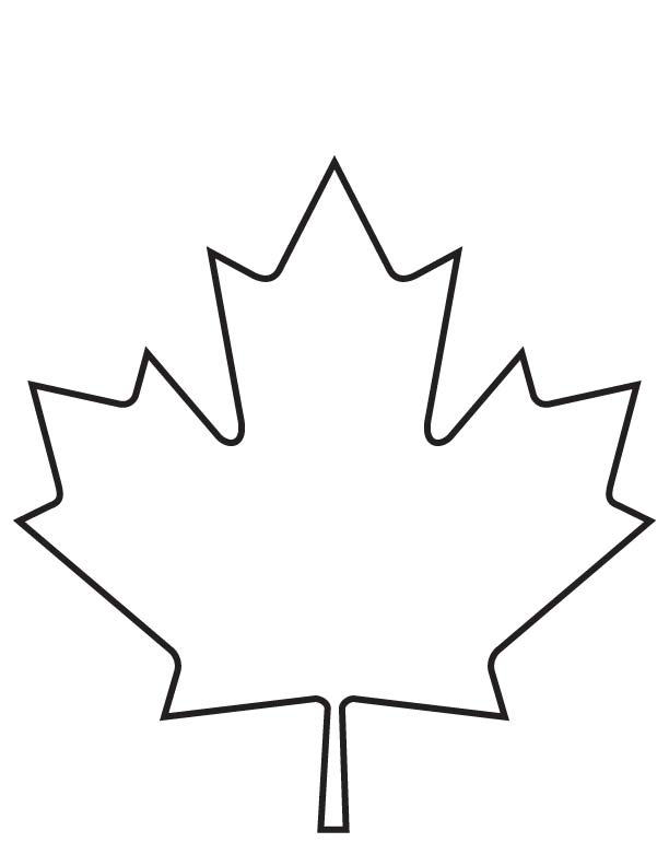 Maple Leaf Coloring Page Download Free Maple Leaf Maple Leaf Coloring