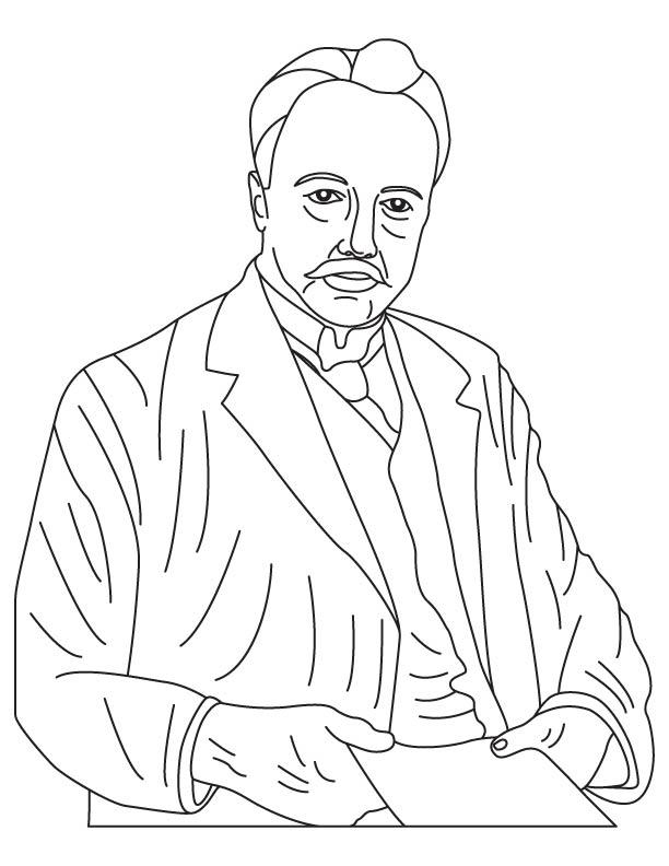 Max Von Laue coloring page