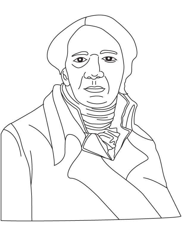 Michael Faraday coloring page