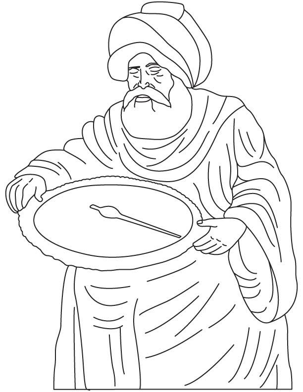 Muhammad Ibn Jabir Al-Harrani Al-Battani coloring page