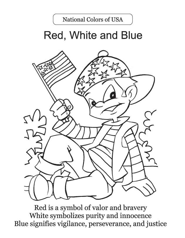 Pledge Of Allegiance Coloring Page - Coloring Home   810x630