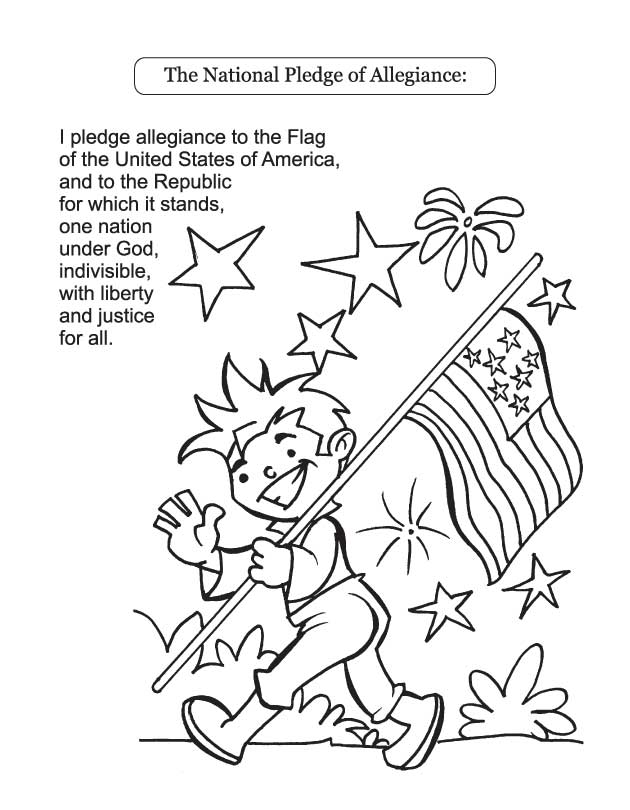 pledge of allegiance coloring page the national pledge of allegiance download free the