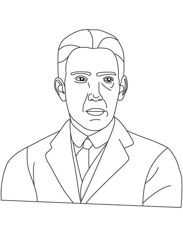 Neils Henrik David Bohr coloring pages