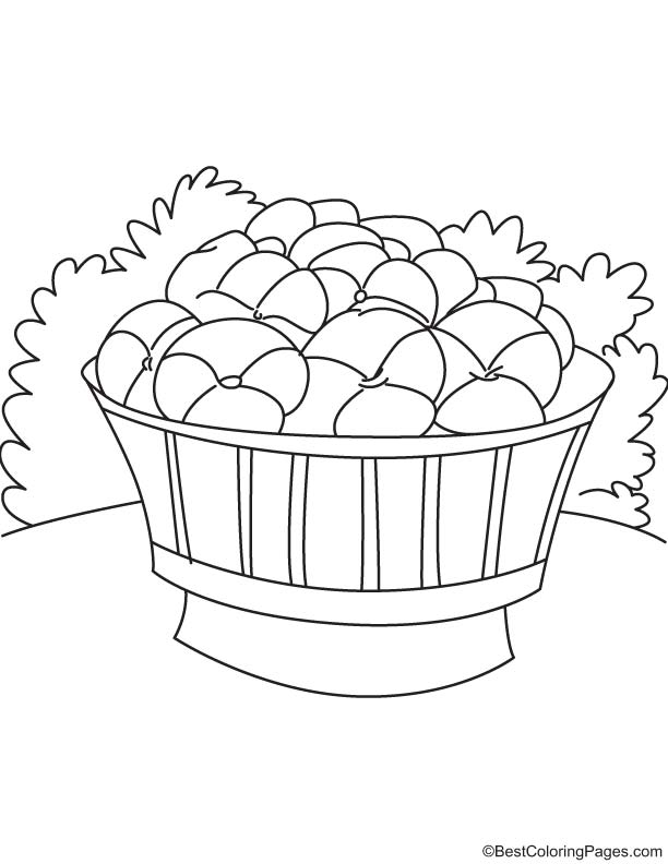 Pansy in the bucket coloring page