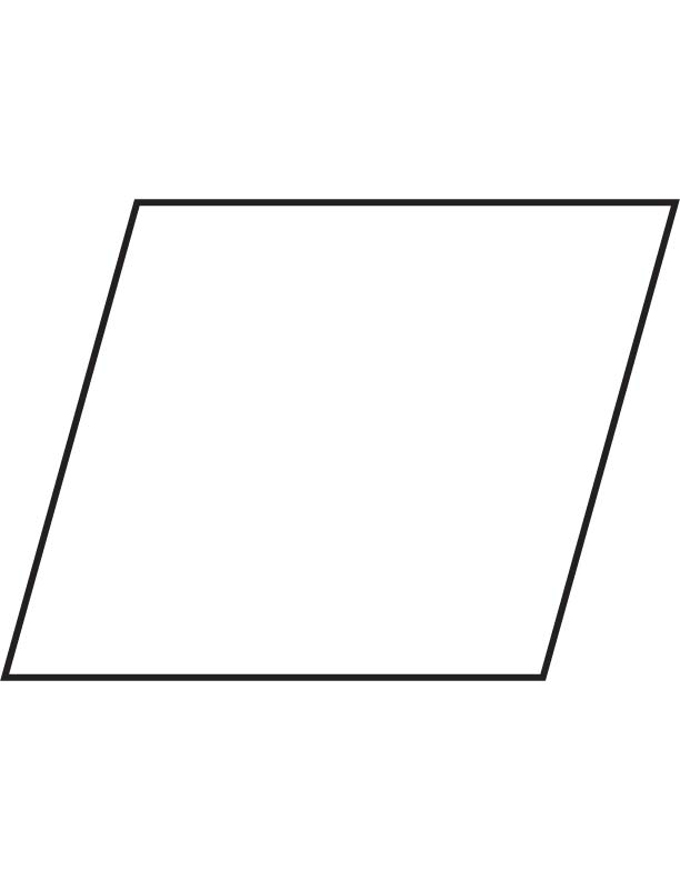parallelograms coloring pages | Parallelogram Coloring Pages - Kidsuki