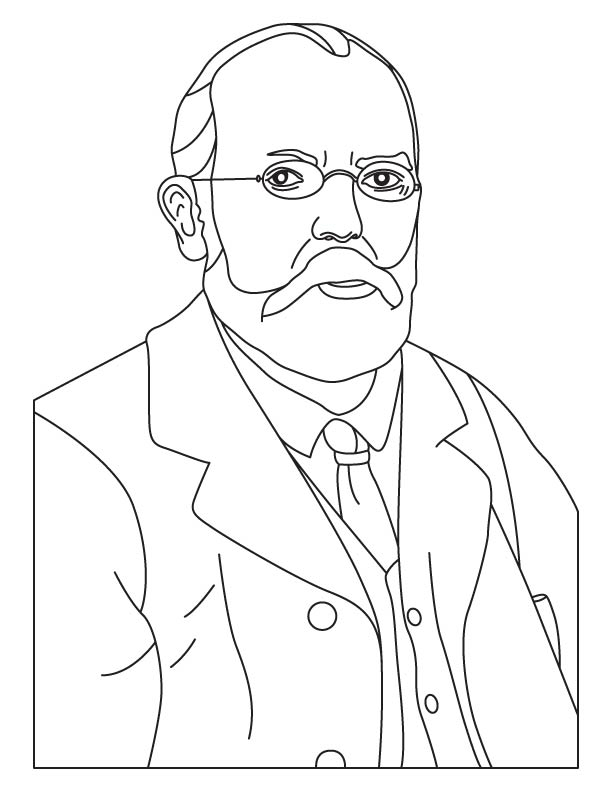 Robert Koch coloring page