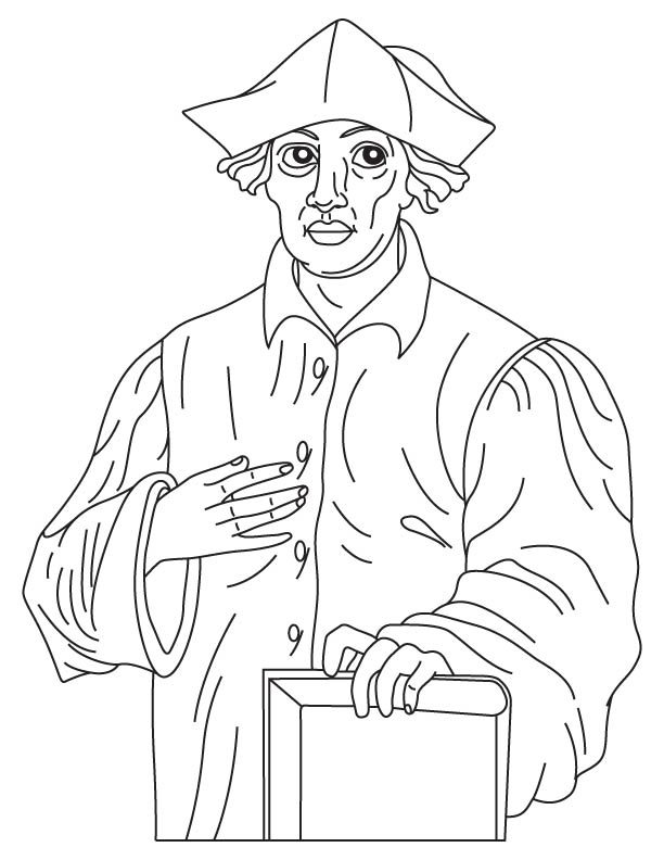 Roger Bacon coloring page