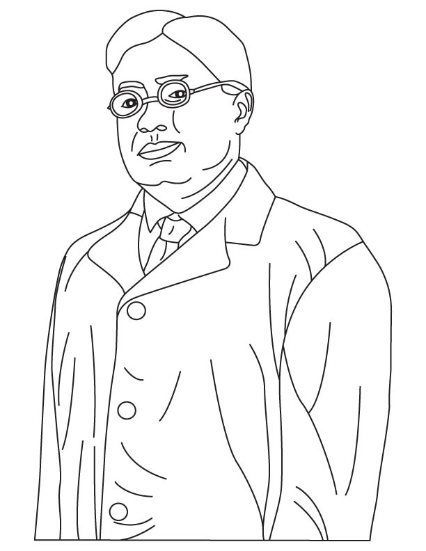 Satyendra Nath Bose coloring pages