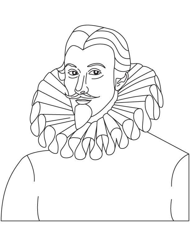 Sir John Harington coloring page