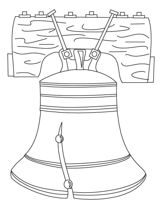 coloring pages american icon the liberty bell page