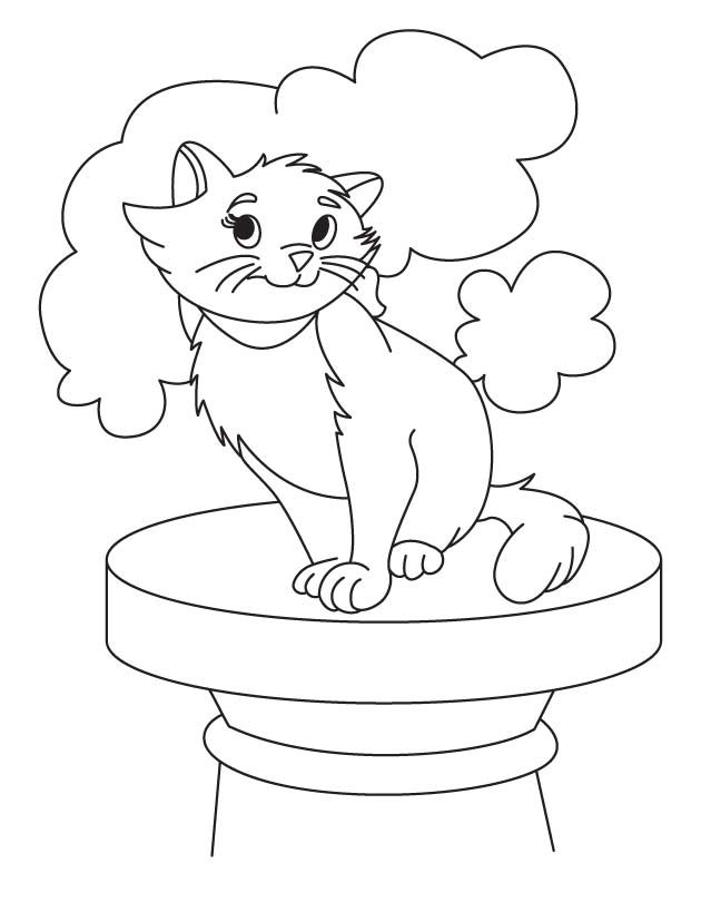 Top of world cat coloring page