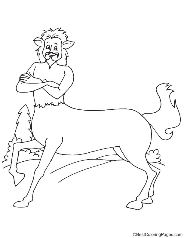 Ugly centaur coloring page