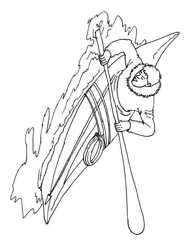coloring pages kayak | White water kayak coloring page | Download Free White ...