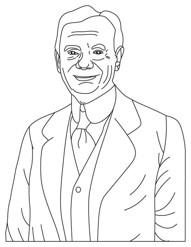 Zhores Alferov coloring page