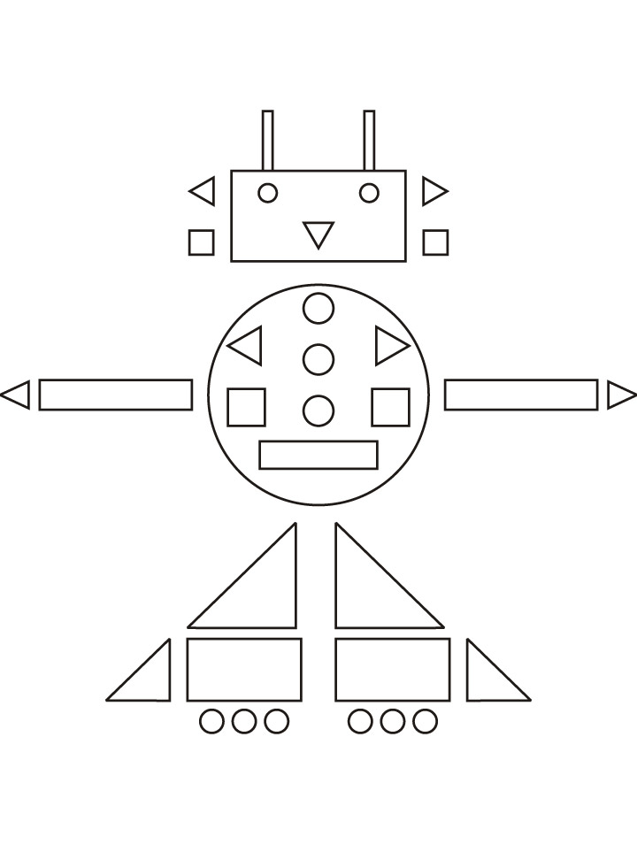 Zomby The Robot Coloring Page