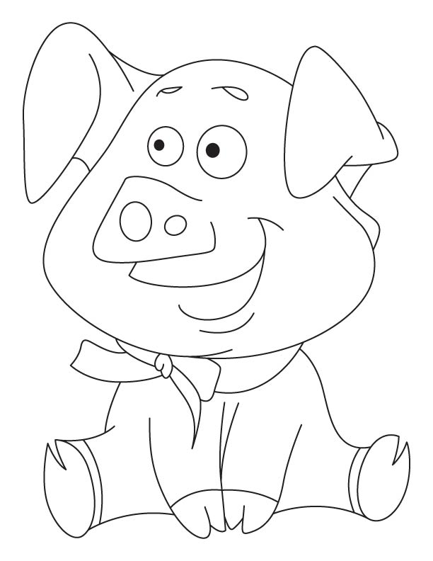 A baby shoat coloring page