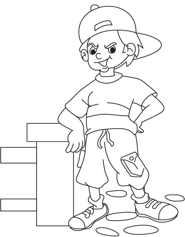 A pride boy coloring page