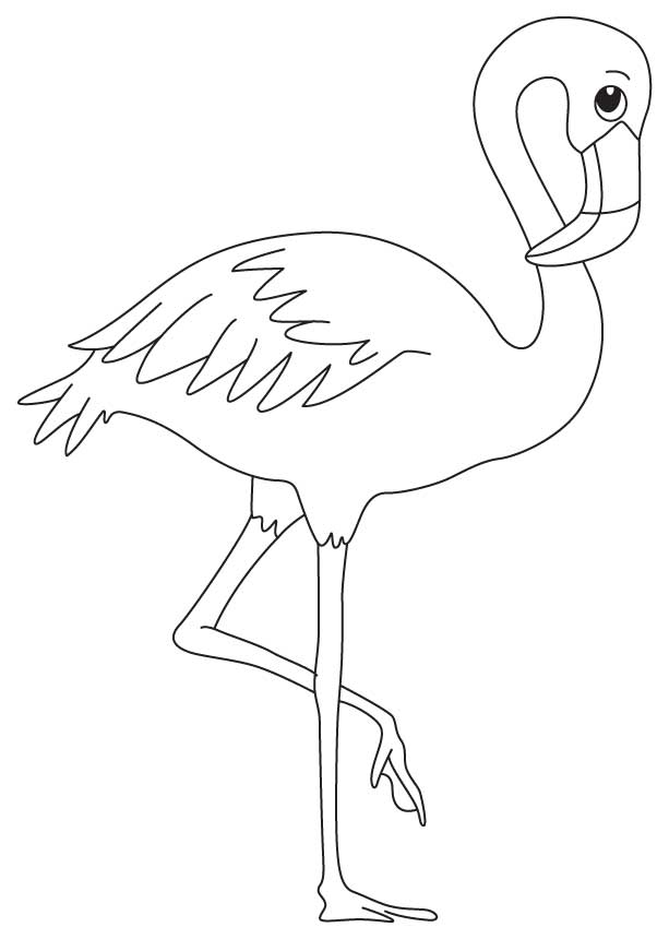 a wading bird coloring page - Flamingo Coloring Pages