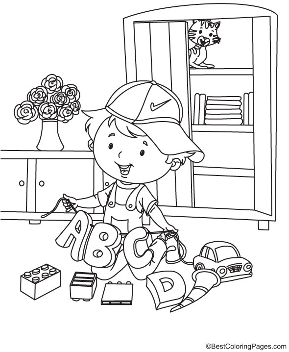 abcd Nursery Rhymes Coloring Page