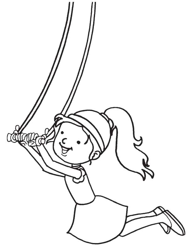 Acrobat performing coloring page