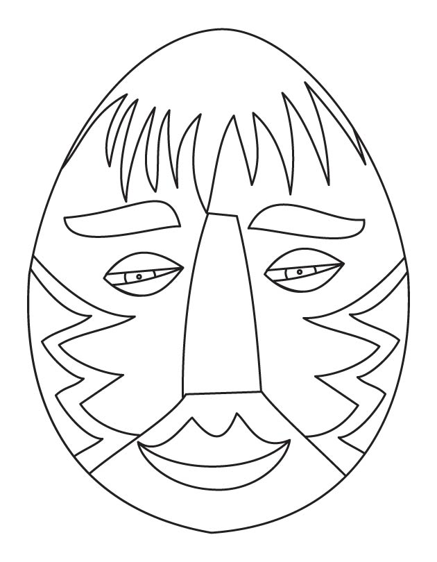 African easter egg coloring page